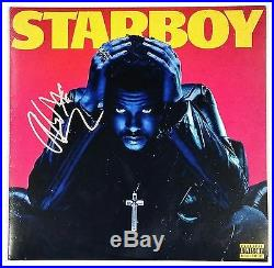 THE WEEKND SIGNED STARBOY 2XLP ORANGE VINYL RECORD ALBUM With JSA CERT RARE