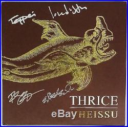 THRICE SIGNED VHEISSU LP ORANGE VINYL RECORD ALBUM WithPROOF DUSTIN KENSURE