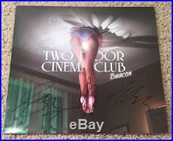 TWO DOOR CINEMA CLUB SIGNED AUTOGRAPH BEACON VINYL ALBUM withPROOF ALEX TRIMBLE +2