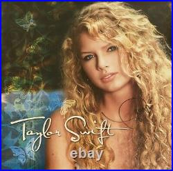 Taylor Swift Autographed Debut Turquoise Vinyl Lp Album Beckett Coa