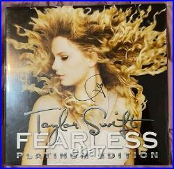 Taylor Swift Rare Gold Fearless Vinyl Autograph SIGNED LP Album RSD
