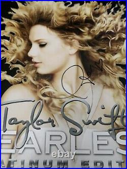 Taylor Swift Rare Gold Fearless Vinyl Autograph SIGNED LP JSA COA Album
