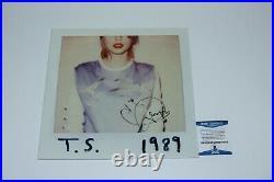 Taylor Swift Signed'1989' Album Vinyl Record Lp Beckett Coa Folklore Lover Bas