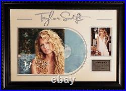 Taylor Swift Signed Autographed Vinyl LE Album Custom Designed Frame JSA LOA
