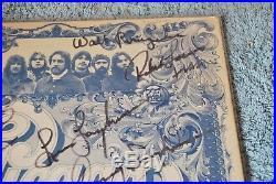 The Band Chicago Terry Kath Signed Autograph Album LP Vinyl 1977