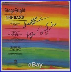 The Band Stage Fright Signed Autograph Record Album JSA Vinyl Rick Danko