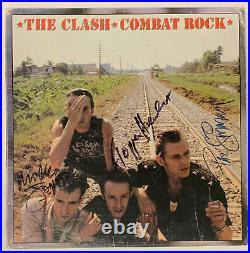 The Clash Autographed vinyl Album signed Jones Headon Simonon Beckett BAS coa
