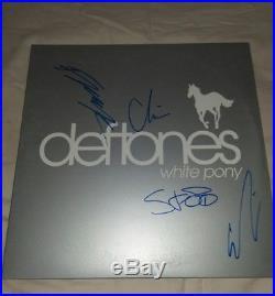 The Deftones Signed Autograph White Pony Vinyl Record Album Chino Moreno +3proof