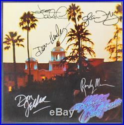 The Eagles (5) Band Signed Hotel California Album Cover With Vinyl JSA #Z58789