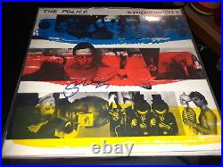 The Police Sting Signed Synchronicity Record Vinyl Album Rare Proof Every Step