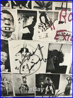 The Rolling Stones Exile On Main Street Vinyl Album Auto Signed By Jagger + 3