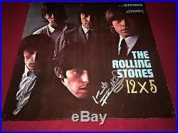 The Rolling Stones Signed 12x5 Lp Album Vinyl Keith Richards Proof