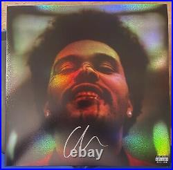 The Weeknd Signed Holographic Vinyl Cover Album Super Bowl autograph with PROOF