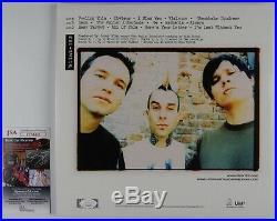 Tom Delonge Travis Barker Blink 182 JSA Signed Autograph Record Album Vinyl