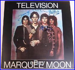 Tom Verlaine TELEVISION Signed Autograph Marquee Moon Album Vinyl Record LP x4