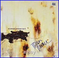 Trent Reznor NIN Signed The Downward Spiral Album Cover With Vinyl BAS #E67579