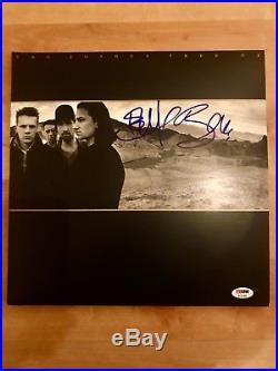 U2 Bono and The Edge signed The Joshua Tree album Vinyl record LP PSA DNA LOA
