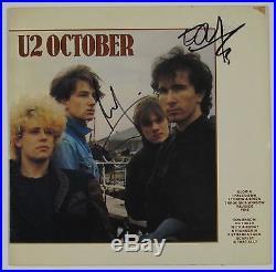 U2 Edge October Signed Autograph Record Album JSA Vinyl Larry Mullen Jr