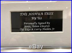U2 signed & Framed Vinyl Joshua Tree Album. Signed by all 4 members! COA