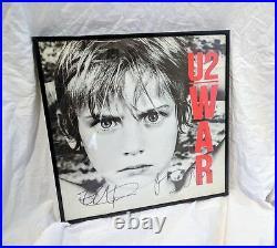 U2 signed WAR Album Vinyl Bono + The EDGE + Beckett COA Experience innocence