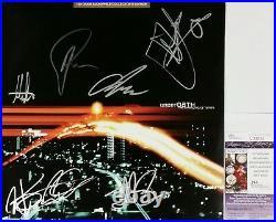 Underoath Band Signed Changing Of Times Lp Clear Vinyl Album Jsa Cert V33034