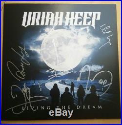 Uriah Heep Living The Dream signierte neue LP signed Album Vinyl komplette Band