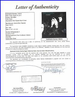 Van Halen Band Signed Autograph Record Album OU812 JSA Vinyl Record Eddie Alex