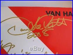 Van Halen Signed In Gold Diver Down Album Lp Autograph Vinyl Lp Beautiful