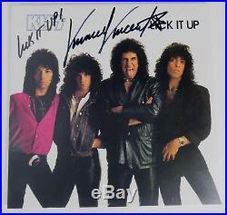 Vinnie Vincent KISS Signed Autograph Lick It Up Album Vinyl Record LP