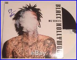 Wiz Khalifa Signed Blacc Hollywood Lp Split Colored Vinyl Record Album Tgod Coa