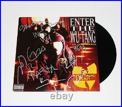 WU-TANG CLAN GROUP SIGNED ENTER THE 36 CHAMBERS ALBUM VINYL RECORD LP withCOA x8