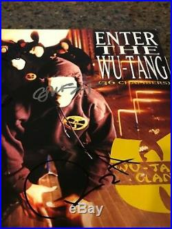 WU TANG CLAN signed vinyl album ENTER THE WU TANG 36 CHAMBERS PROOF 1