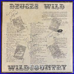 Wildcountry Deuces Wild autographed record album 1977 LP Alabama Vinyl Signed