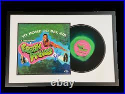 Will Smith Fresh Prince Of Bel Air Signed Framed Vinyl Album Autograph Becektt