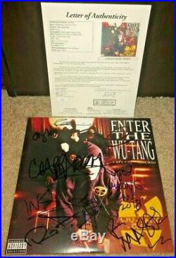 Wu Tang Clan Signed 36 Chambers Album Vinyl Enter Rza Gza Ghostface 9 Total Jsa