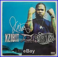 XZIBIT Signed Restless Vinyl Record Album LP Rare Hip Hop Legend Rap RAD