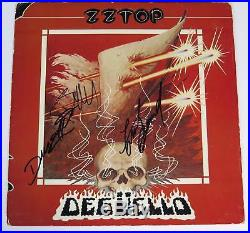ZZ TOP Signed Autograph Deguello Album Vinyl Record LP by All 3 Billy Gibbons