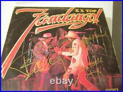 ZZ TOP signed vinyl album FANDANGO FULL BAND DUSTY HILL