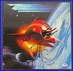 ZZ Top (Gibbons, Hill & Beard) Signed Album Cover With Vinyl PSA/DNA #AB08106